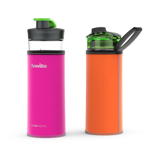 Breville Blend Active Bottle Reversible Sleeve - Pink/Orange