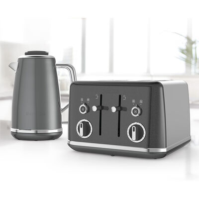 Lustra Kettle and Toaster Set, Storm Grey