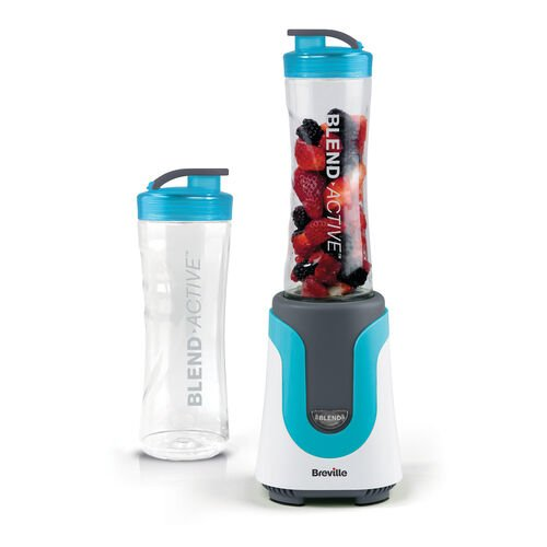 Breville Blend Active Personal Blender, Blue with x2 600ml Bottles