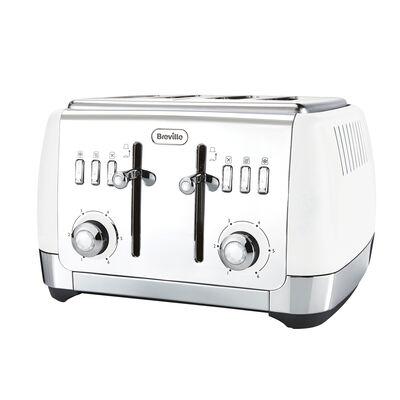 Strata 4 Slice Toaster, Matt White