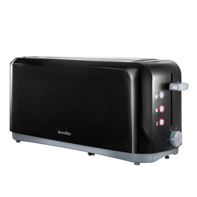 Breville Black Long Slot 4 Slice Toaster VTT233