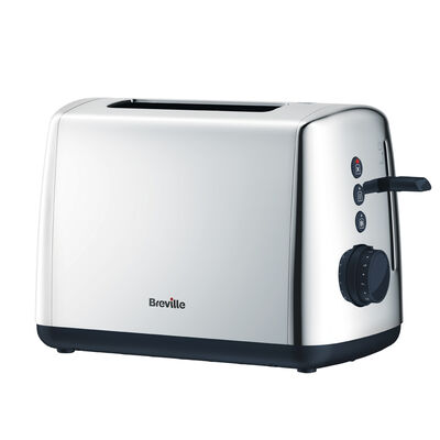 Polished Stainless Steel 2 Slice Toaster