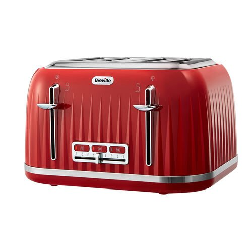 Impressions 4 Slice Toaster, Venetian Red
