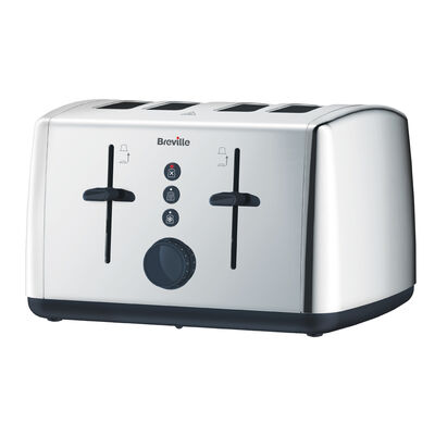 Polished Stainless Steel 4 Slice Toaster