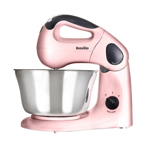 Pick & Mix Hand and Stand Food Mixer, Strawberry Cream, 10 speeds, 380w