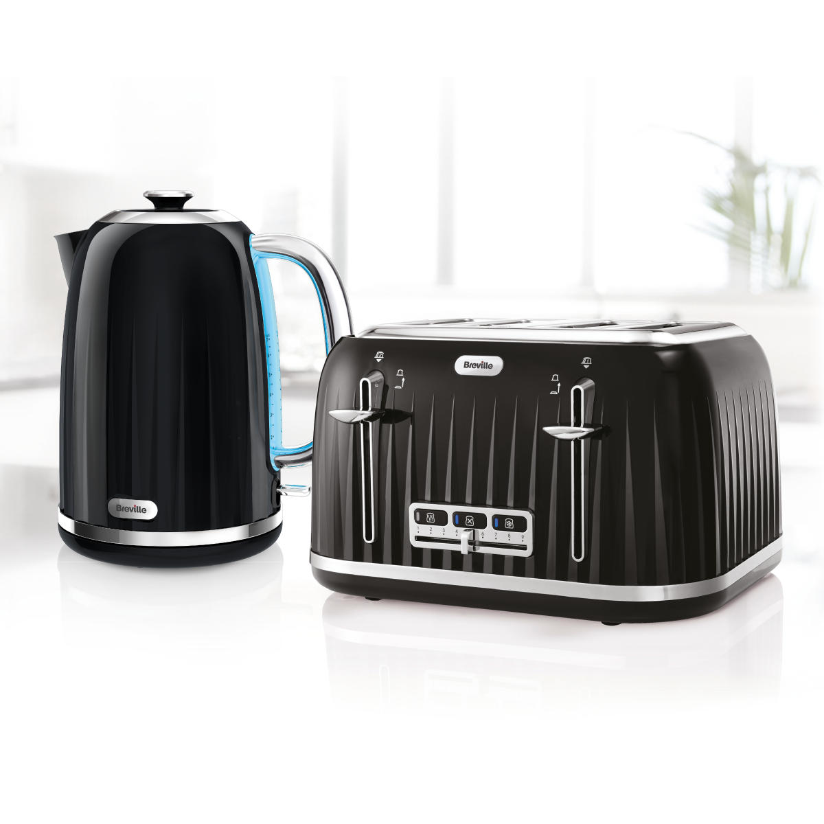 Matching Coffee Maker And Toaster : Breville Impressions Collection Kettle & Toaster Set, Black