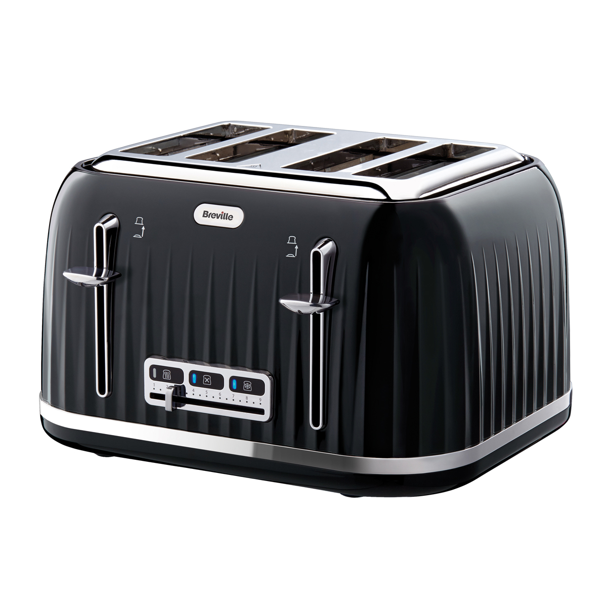 Impressions 4 Slice Toaster, Black