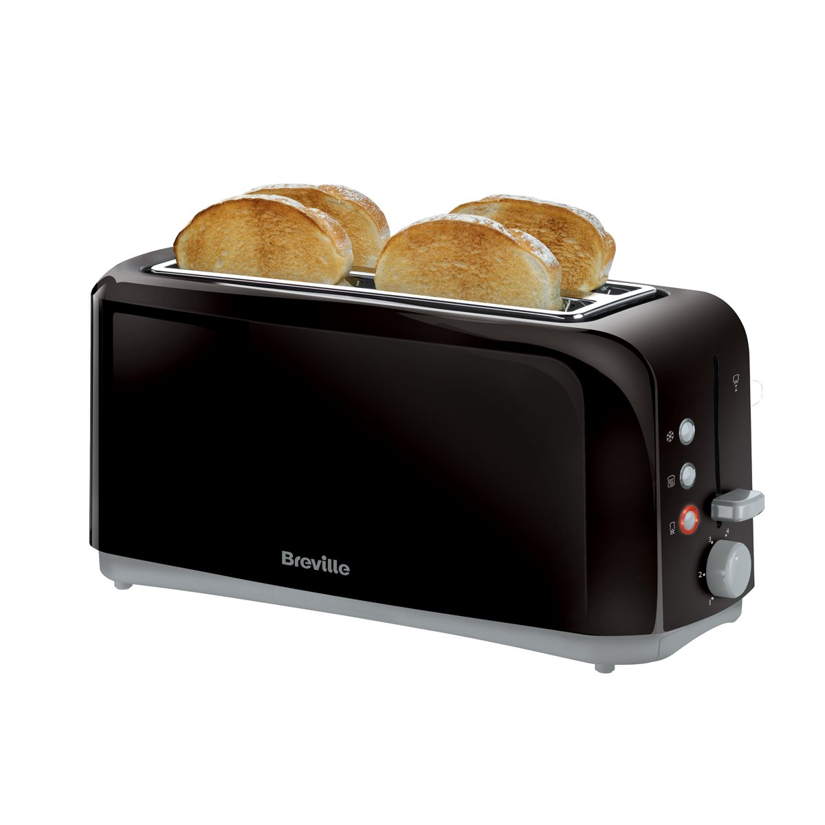 4 Slice Toaster ~ Breville black long slot slice toaster vtt