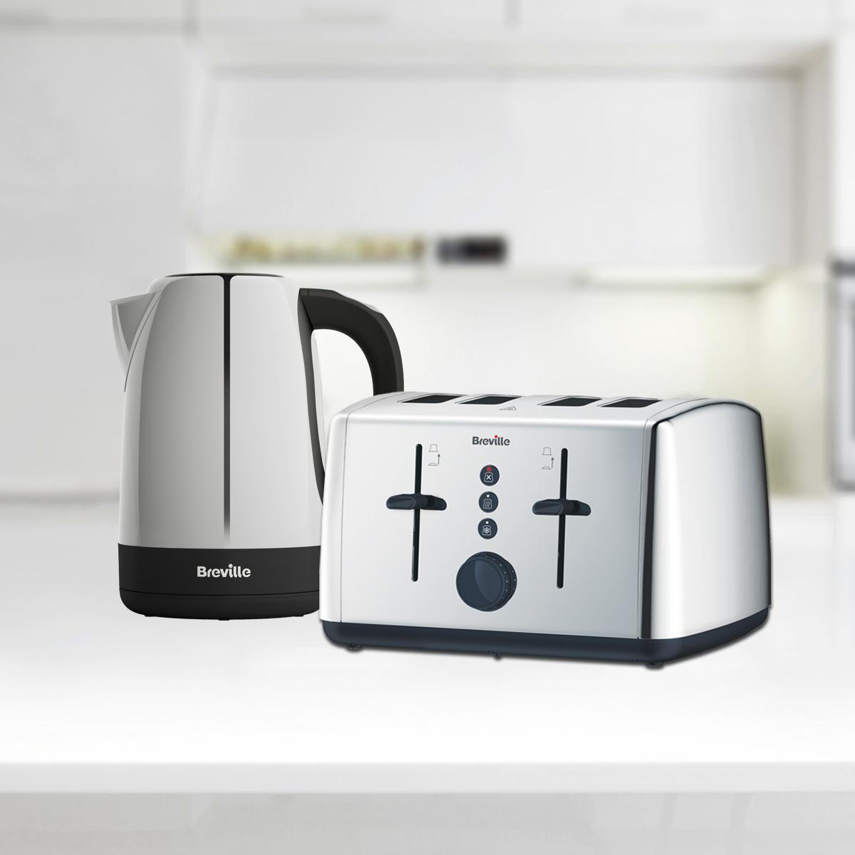 Vista collection 1 7l jug kettle and 4 slice toaster set for Kitchen set kettle toaster