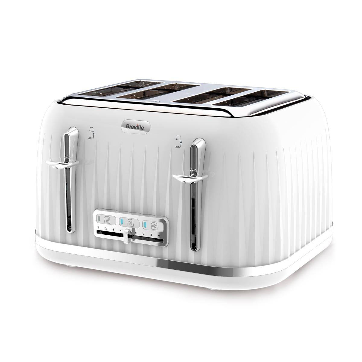 Impressions 4 Slice Toaster, White