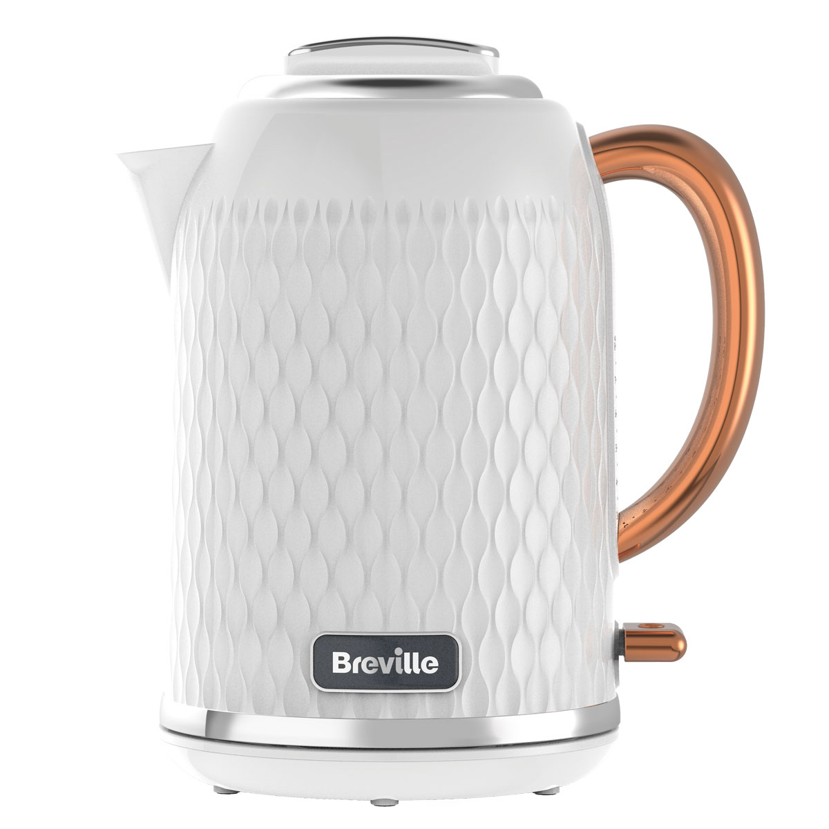 Curve jug kettle and toaster set white and rose gold for Kitchen set kettle toaster
