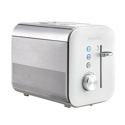 High Gloss 2 Slice Toaster, White