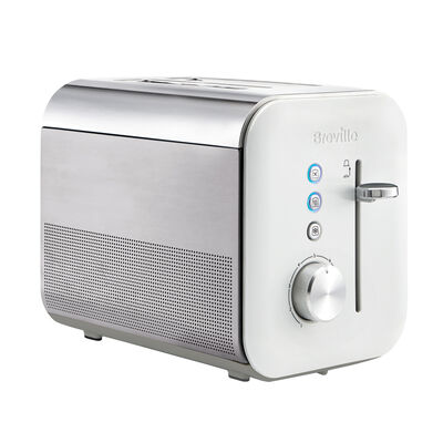 High Gloss 2 Slice Toaster, White