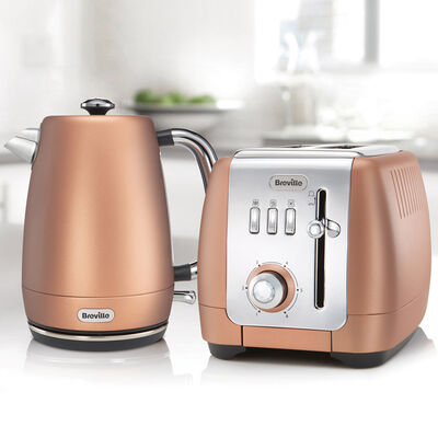 Strata Luminere Kettle and Toaster Set, Rose Gold