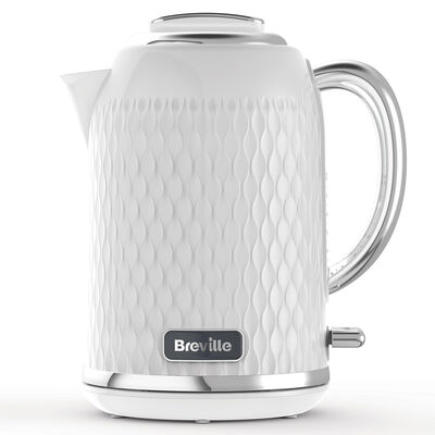 Curve 1.7L Jug Kettle, White with Chrome