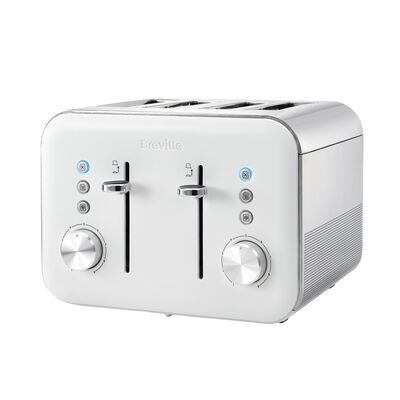 High Gloss 4 Slice Toaster, White