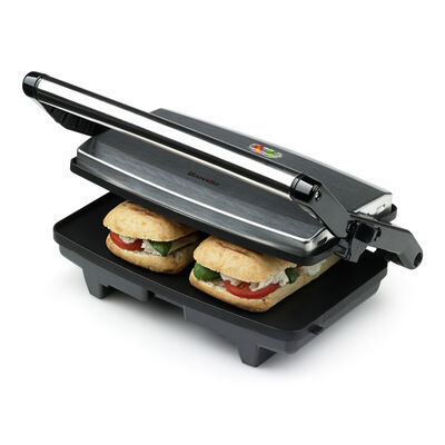 NON STICK TWO SLICE TOASTED SANDWICH MAKER PRESS GRILL TOASTER STAINLESS FINISH