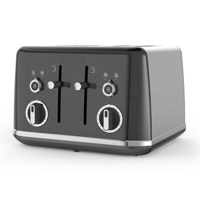 Lustra 4 Slice Toaster, Storm Grey