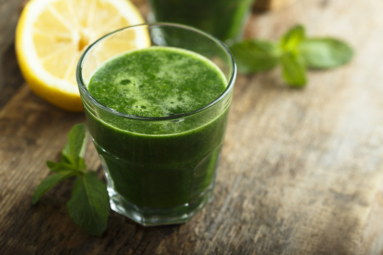 Healthy juices so you're not green