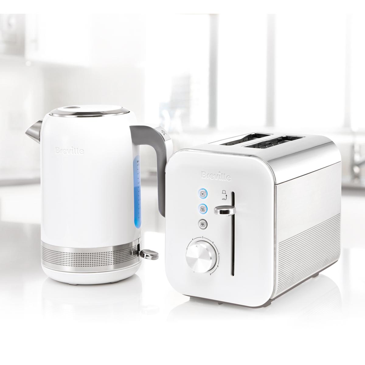 White High Gloss Collection 2 Slice Toaster Vtt686