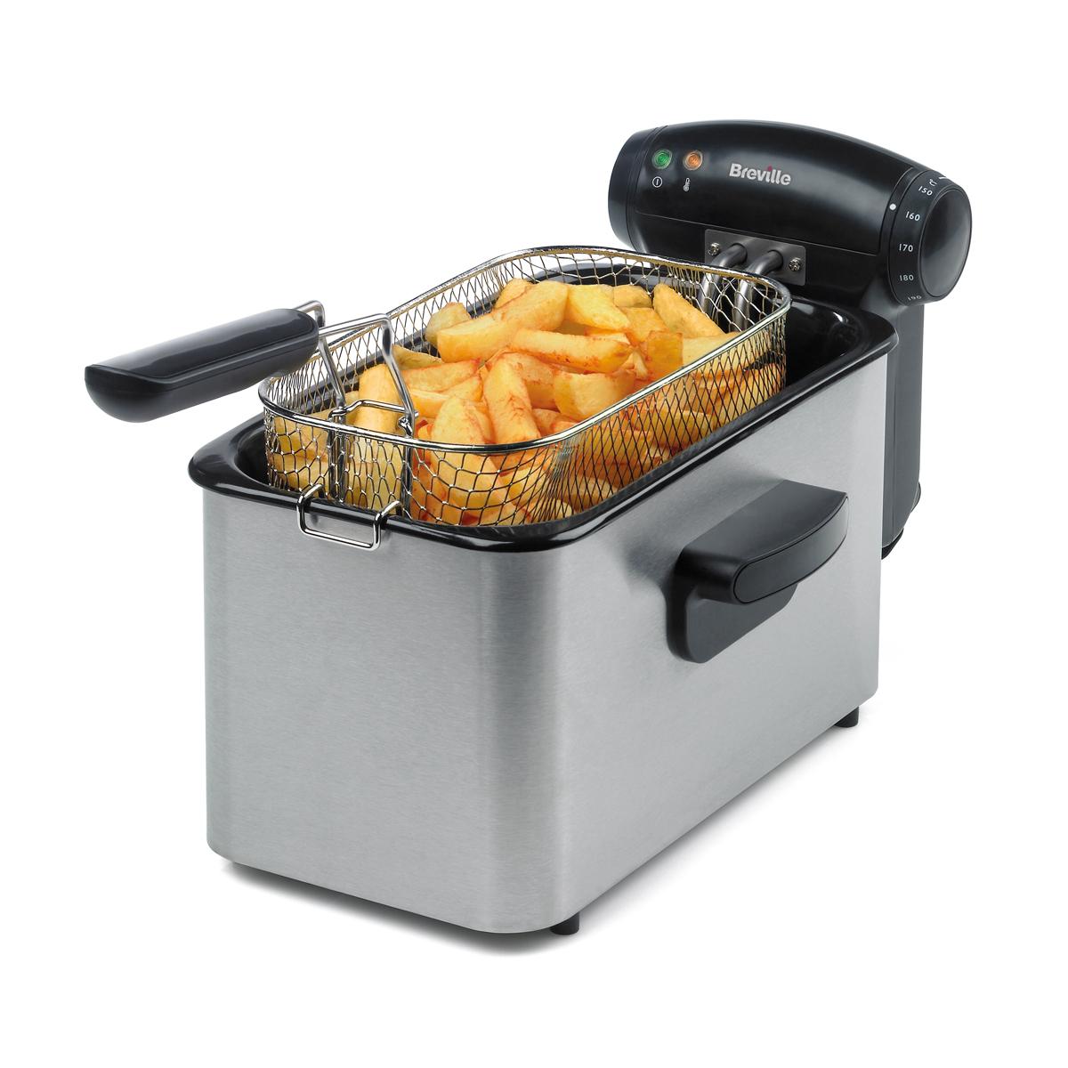 3l 1kg Stainless Steel Deep Fat Fryer Vdf100 Breville