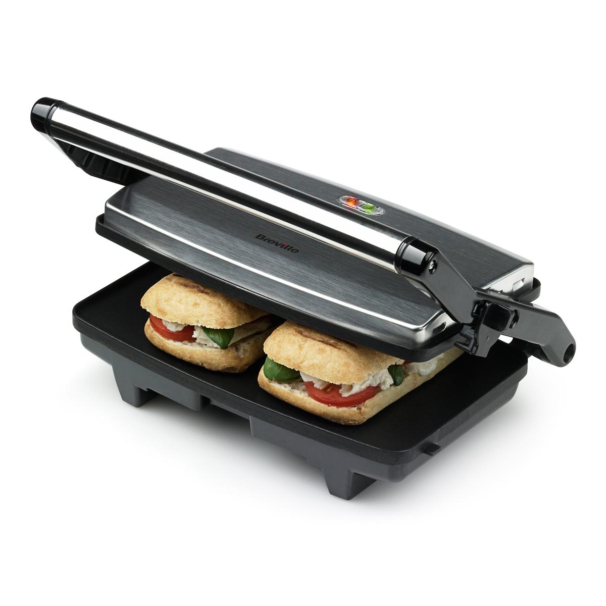 2 Slice Sandwich Toaster Amp Panini Maker Vst049 Breville